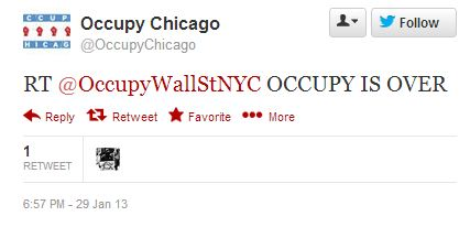 Occupy hacked tweet