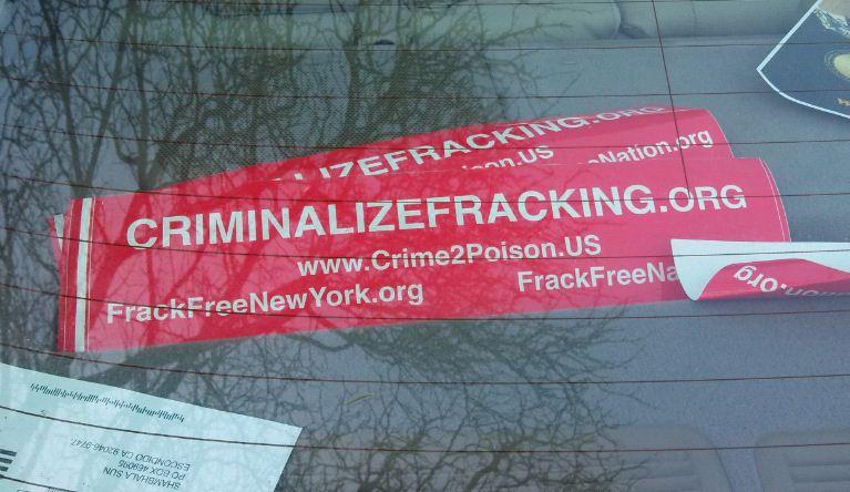 Bumper Sticker - Ithaca - Criminalize Fracking1