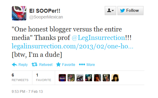 Twitter - SooperMexican - honest blogger
