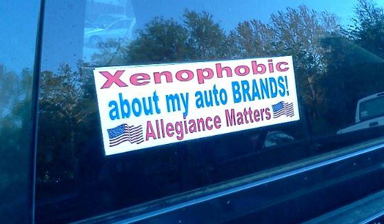 Bumper Sticker - Jacksonville - Xenophobia
