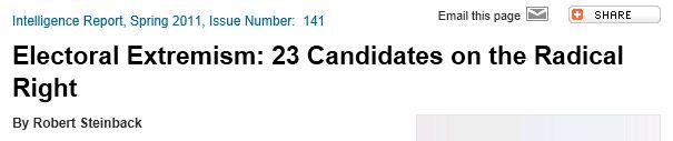SPLC 2011 Electoral Extremism