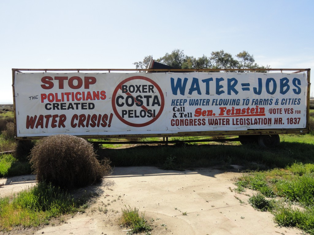 Sign - San Joaquin Valley CA - Water Crisis