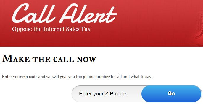 Heritage Action Call Alert Internet Sales Tax