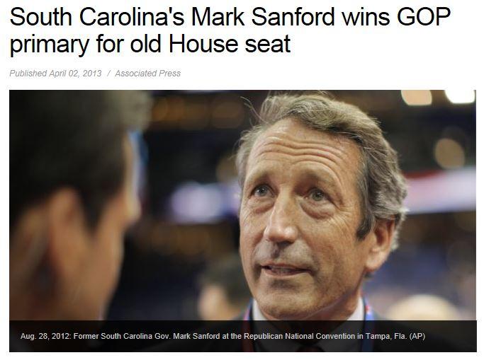 Mark Sanford Wins Primary Runoff