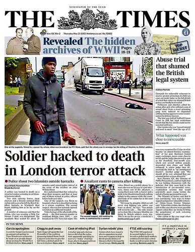 The Times Cover - Machete Terror Attack