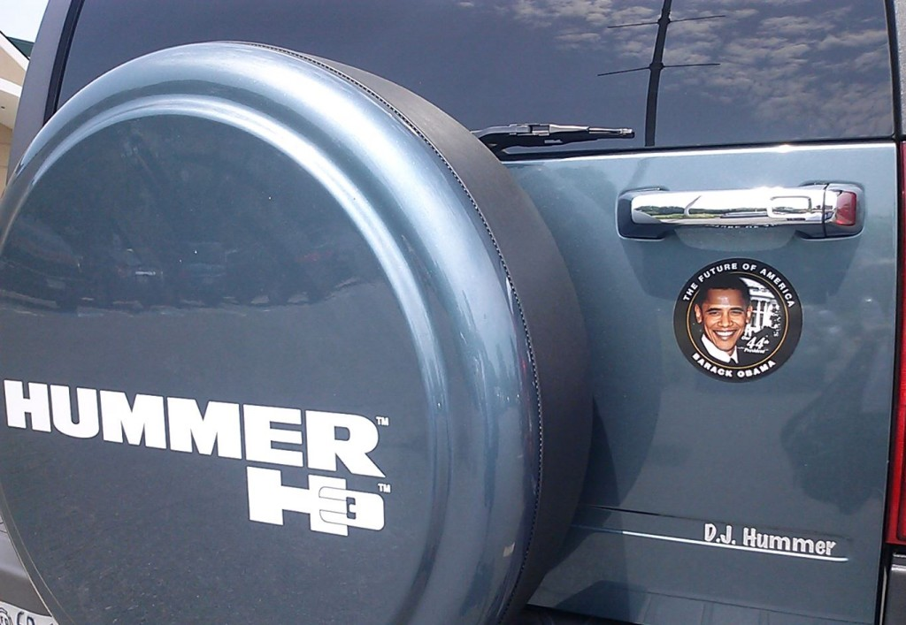 Bumper Sticker - Charlottesville VA - Hummer