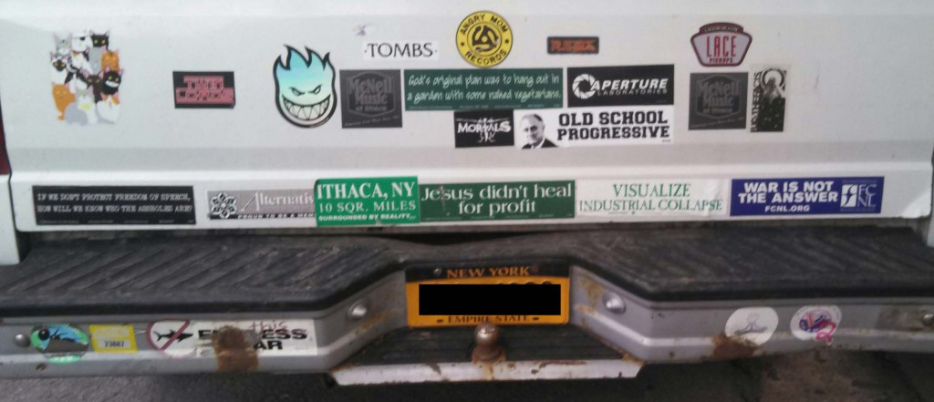 Bumper Stickers - Ithaca - Old School