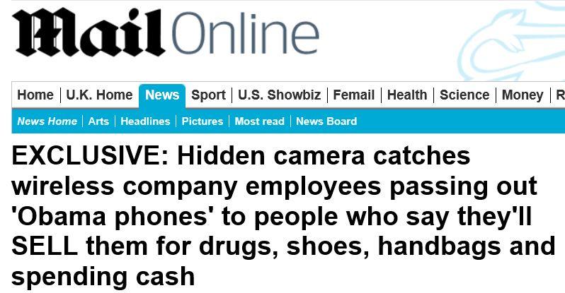 Daily Mail - Obama Phone