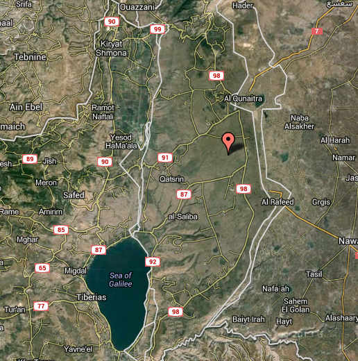 Golan Heights Wind Farm - map view