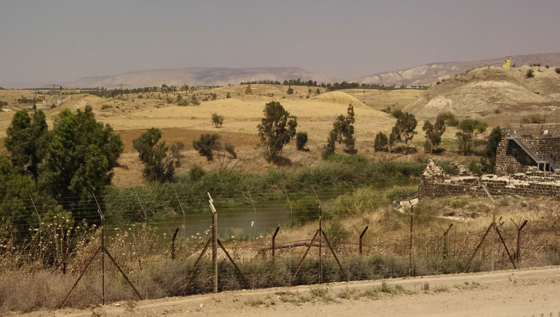 (Jordan River view from Kibbutz Gesher, Israel)