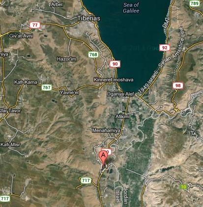 (Kibbutz Gesher, Israel, map location)