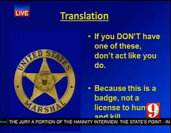 Prosecution closing argument slide Translation U.S. Marshall