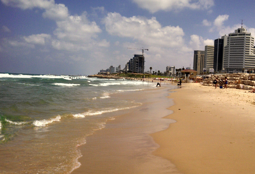 (Tel Aviv Beach Looking North From Jaffa)