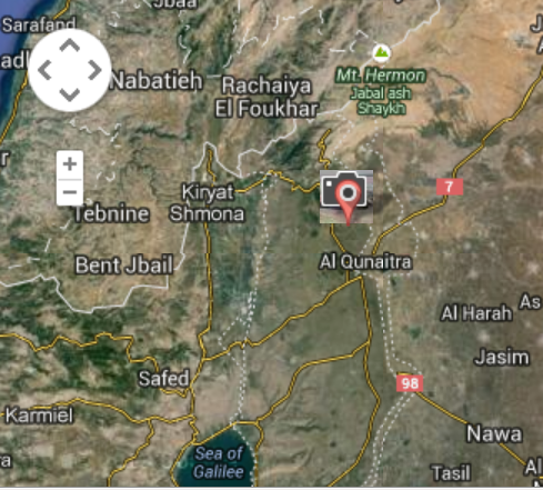 Valley of Tears - Golan Heights - Map View