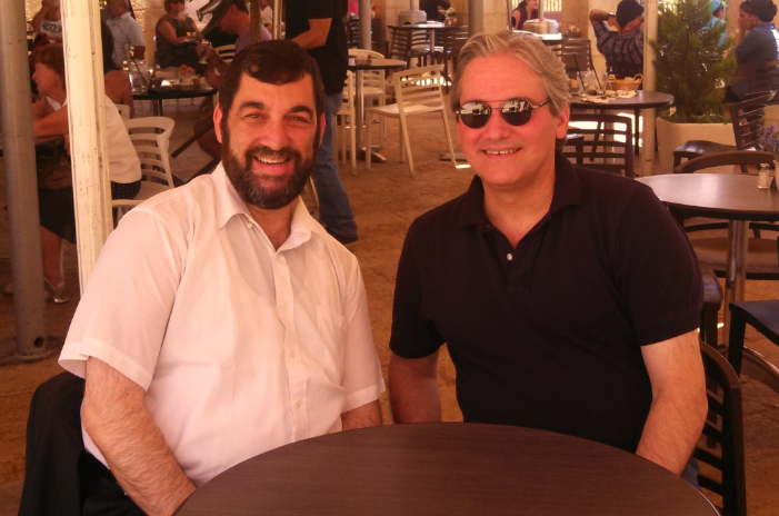 William A. Jacobson and Carl in Jerusalem