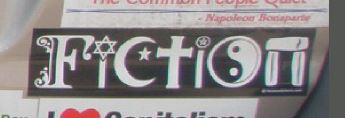 Bumper Sticker - Fredericksburg, VA - Fiction