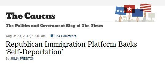 NYT Republican Platform Self-Deportation