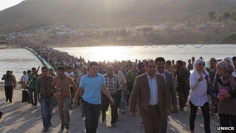 Syria Exodus of Refugees