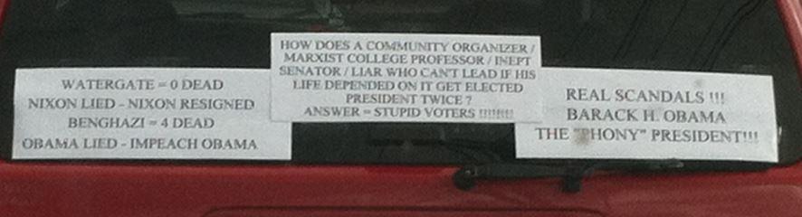 Bumper Stickers - Nashua NH - anti-obama
