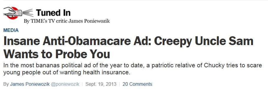 Creepy Obamacare Ad - Time
