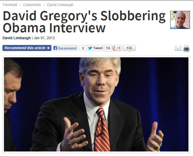 David Limbaugh - David Gregory Slobbering Obama Interview