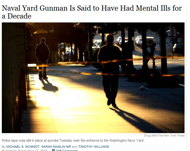 NY Time Navy Yard Shooting Mental Illness