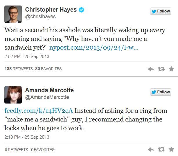Twitter - sandwich complaints