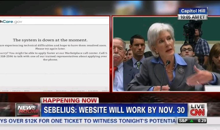 CNN healthcare Sebelius system down