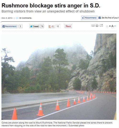 Mount Rushmore cones block