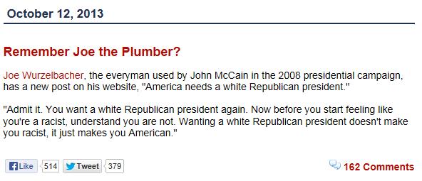 Remember Joe the Plumber