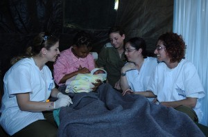 First baby Delivered in Haiti