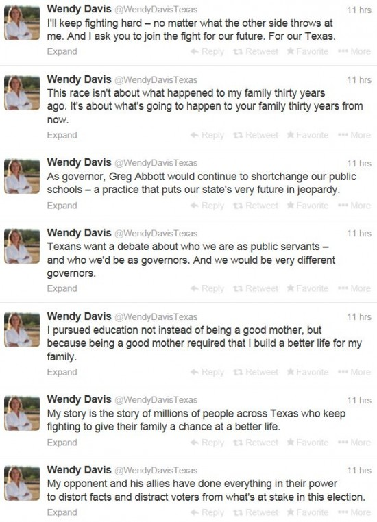 Wendy Davis Twitter 1-28-2014 Good Mother