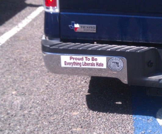 From danelle when one bumper sticker