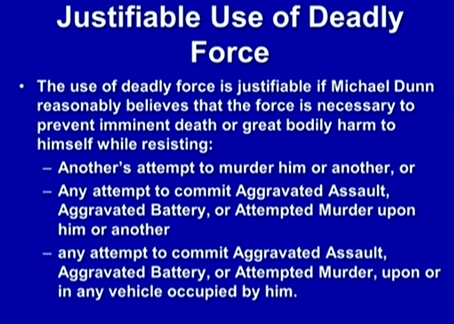 (Justifiable Use of Deadly Force.)