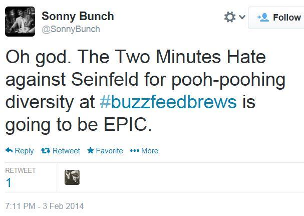 Twitter Sonny Bunch Seinfeld Diversity