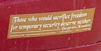 Bumper Sticker - Walpole MA - Ben Franklin quote