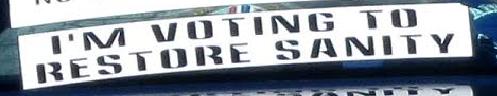 Bumper Stickers - Radford VA - Restore voter sanity