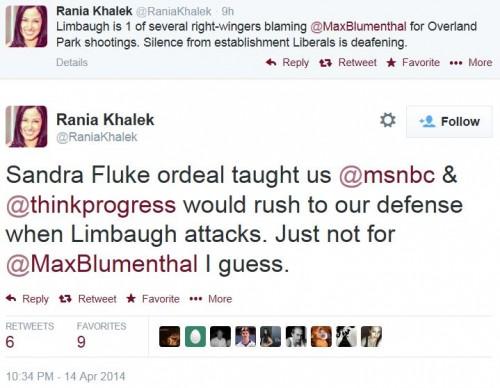 Twitter - @RaniaKhalek - MSNBC not defending Max Blumenthal