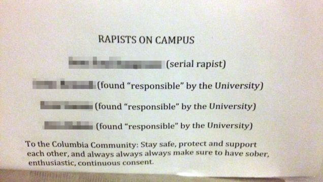 http://jezebel.com/rapist-list-mysteriously-appearing-in-columbia-universi-1575660992/1575819470/+morninggloria