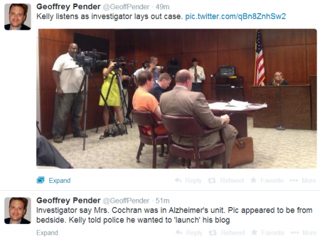 Tweets Cochran wife taping hearing 5-22-2014