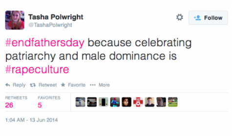 http://weaselzippers.us/189670-tweet-of-the-day-feminist-loon-says-end-fathers-day-because-celebrating-patriarchy-and-male-dominance-is-rape-culture/