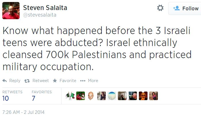 Twitter - @Stevesalaita - You know what happened before 3 teens