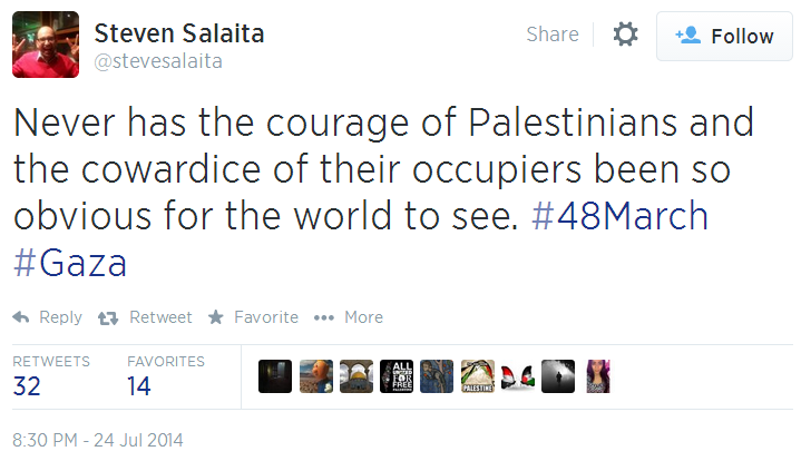 Twitter _ stevesalaita_ Never has the courage of 48March