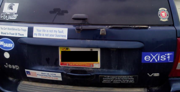 Bumper Sticker - Roswell NM - Exist Full Car