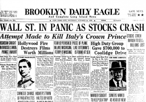 Stock Market Crash Newspaper
