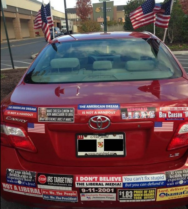 Bumper Stickers - Wheaton MD - American Dream Not A Handout full