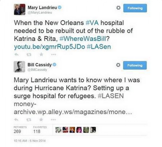 Mary Landrieu Bill Cassidy Where Was Bill Backfires
