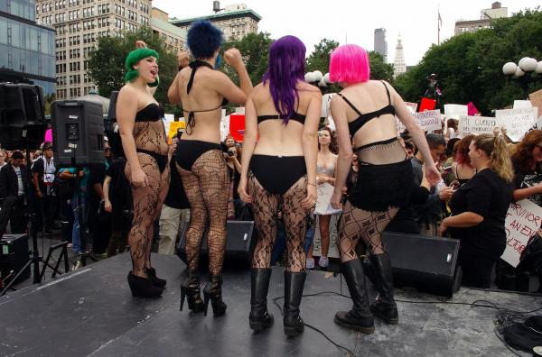 Slutwalk Feminism comet scientist tshirt
