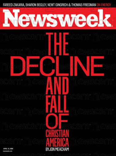 Decline and Fall of Christian Nation Newsweek Cover