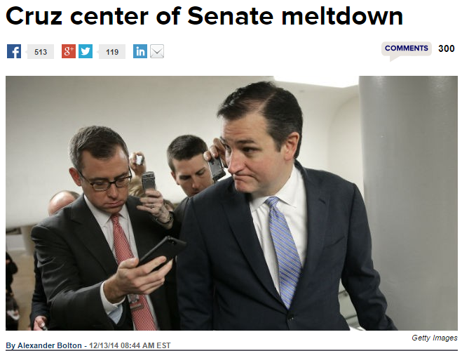 The Hill Ted Cruz Center of Senate Meltdown